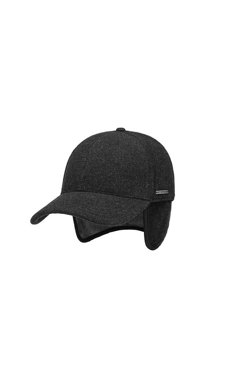 STETSON ANTHRACITE (32) VABY BASEBALL CAP WITH EAR FLAPS (7720102)