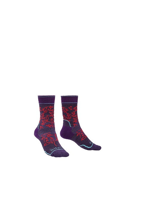 BRIDGEDALE LADIES PURPLE HIKE MIDWEIGHT BOOT (TREKKER) SOCK
