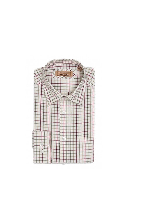 GURTEEN MENS CRANBERRY CHECK (660) CUMBRIA LONG SLEEVED SHIRT