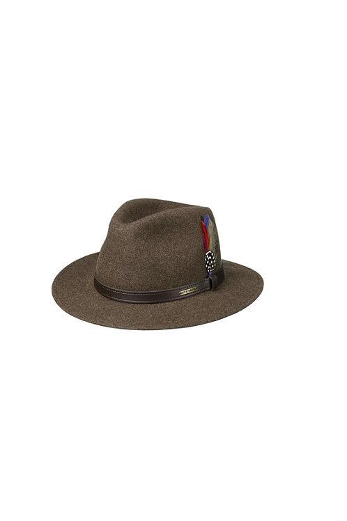 STETSON BROWN (63) POWELL TRAVELLER WOOLFELT HAT (2598123)