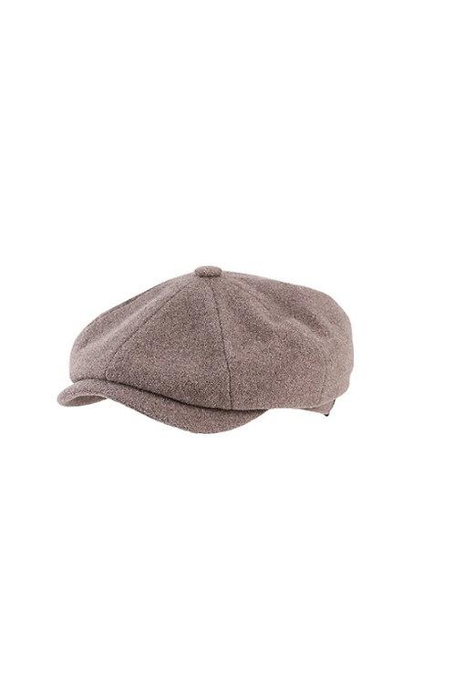 STETSON BEIGE (67) HATTERAS BAKERBOY FLAT CAP (6840101)