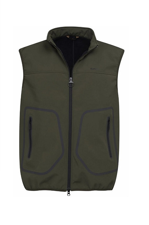 BARBOUR OLIVE LIVINGSTONE FLEECE GILET