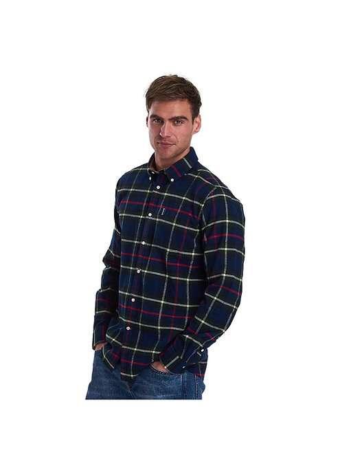 BARBOUR NAVY HIGHLAND CHECK 19 TAILORED FIT SHIRT