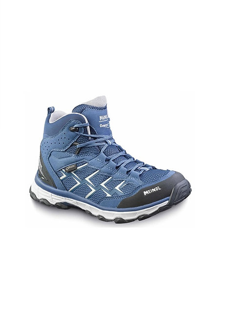 MEINDL LADIES BLUE/SILVER ACTIVO MID GTX COMFORT FIT WALKING BOOTS