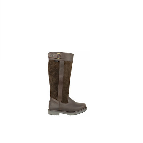 HOGGS OF FIFE  LADIES  DARK BROWN CLEVELAND COUNTRY BOOTS