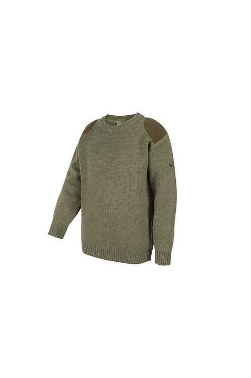 HOGGS OF FIFE JUNIOR SOFT MARL GREEN MELROSE HUNTING JUMPER
