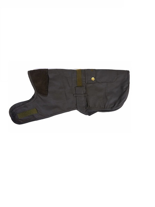 BARBOUR OLIVE 2 IN 1 WAX DOG COAT