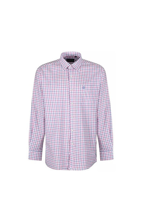 ALAN PAINE ILKLEY BLUE/PINK COUNTRY CHECK SHIRT- SHOOTING FIT