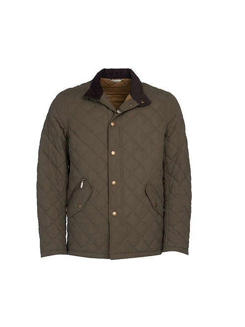 BARBOUR ARMY GREEN SHOVELER QUILTED JACKET