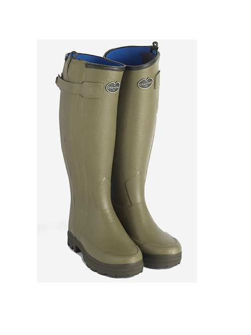 LE CHAMEAU MENS VERT CHASSEUR NEO WELLY BOOTS
