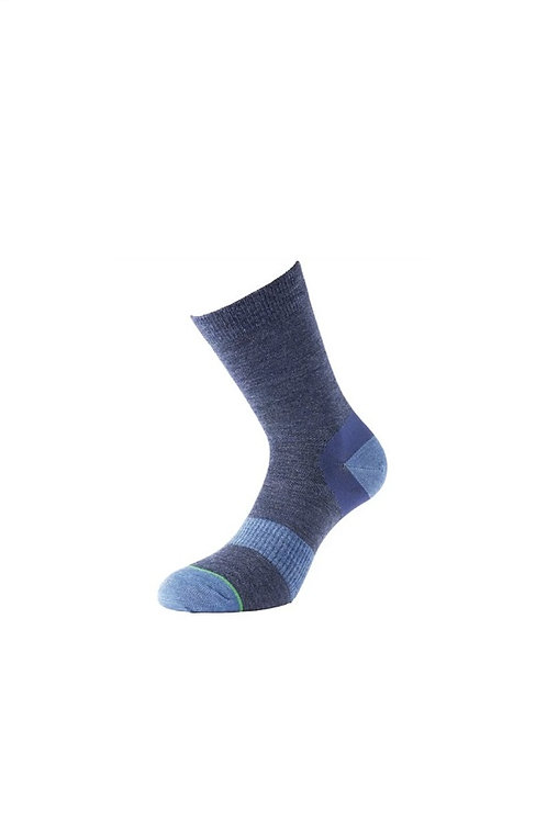1000 MILE NAVY LADIES APPROACH DOUBLE LAYER WALKING SOCKS