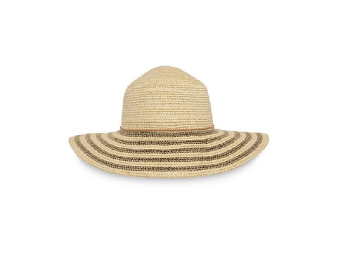 SUNDAY AFTERNOONS NATURAL/ BLACK STRAW SUN HAVEN HAT