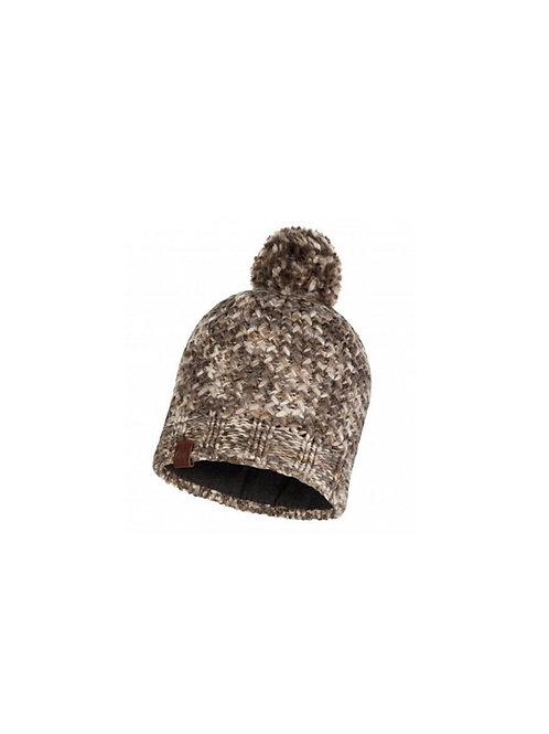 BUFF BROWN TAUPE MARGO KNITTED AND POLAR HAT