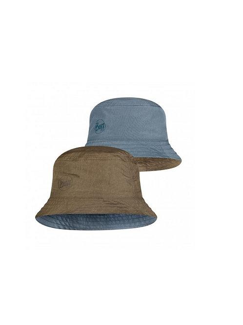 BUFF ZODAK BLUE/OLIVE TRAVEL BUCKET HAT