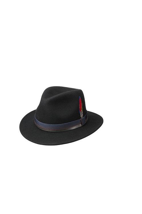 STETSON BLACK (1) PARLESTO TRAVELLER WOOLFELT HAT (2528106)