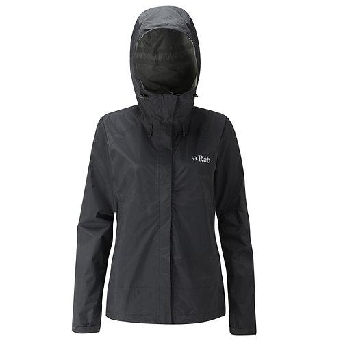 Rab Ladies Black Downpour Waterproof Jacket
