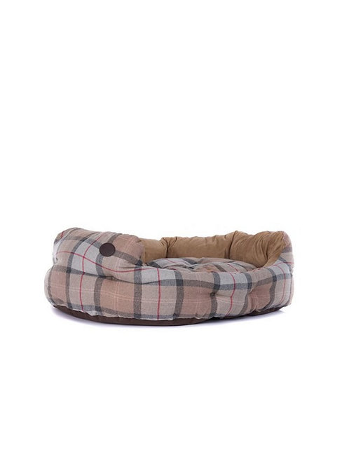 "BARBOUR LUXURY TAUPE/PINK 35"" DOG BED"