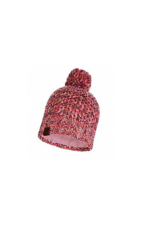 BUFF FLAMINGO PINK MARGO KNITTED AND POLAR HAT
