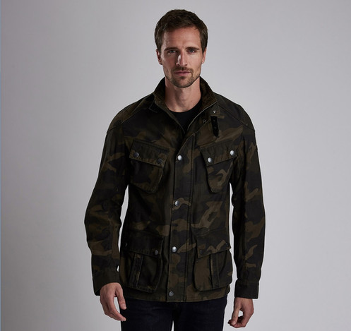 c7f1d56d73ac7 BARBOUR INTERNATIONAL WASHED CAMO CASUAL JACKET