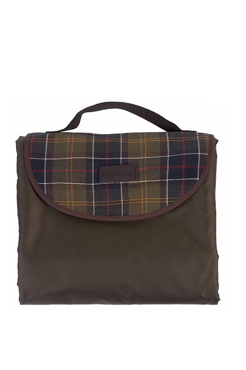 BARBOUR OLIVE TRAVEL DOG BLANKET