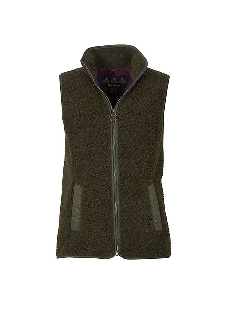 BARBOUR LADIES OLIVE MILBURN FLEECE GILET