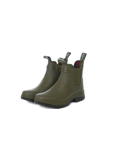BARBOUR MENS OLIVE FURY CHELSEA WELLINGTON BOOTS