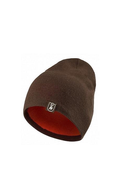 DEERHUNTER ORANGE CUMBERLAND REVERSIBLE SAFETY KNITTED BEANIE HAT