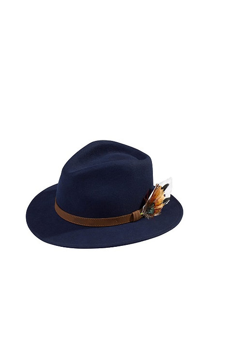 ALAN PAINE UNISEX NAVY RICHMOND FELT HAT