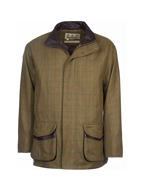 BARBOUR OLIVE/BROWN MOORHEN WOOL TWEED JACKET