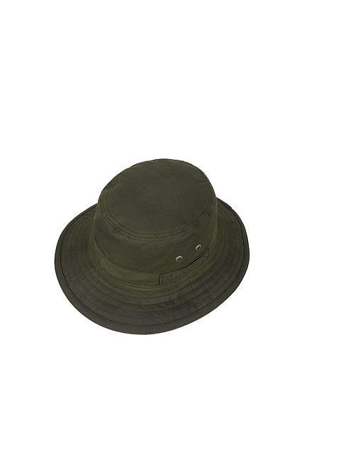 STETSON OLIVE ATKINS WAXED COTTON HAT (2821102)