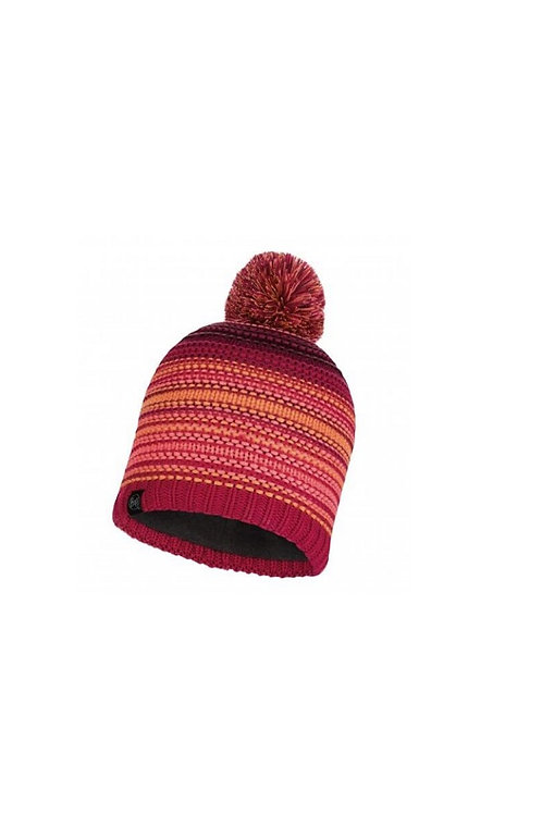 BUFF BRIGHT PINK NEPER KNITTED AND POLAR HAT