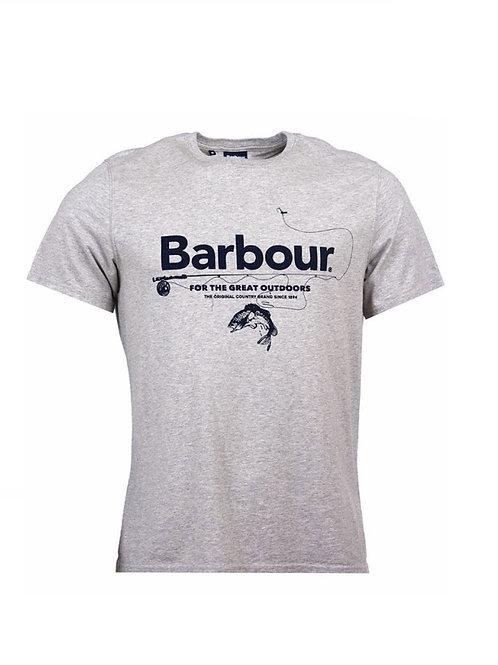 BARBOUR GREY MARL OUTDOOR T-SHIRT