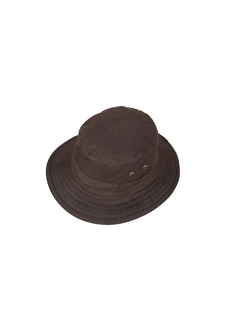 STETSON BROWN ATKINS WAXED COTTON HAT (2821102)
