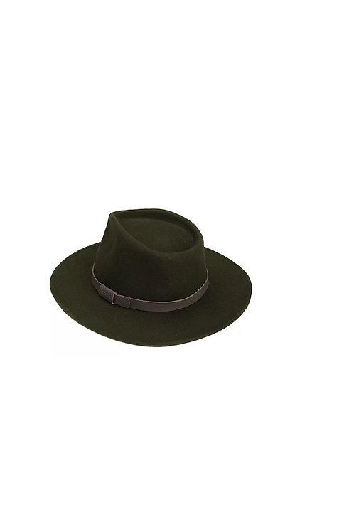 BARBOUR OLIVE CRUSHABLE BUSHMAN HAT