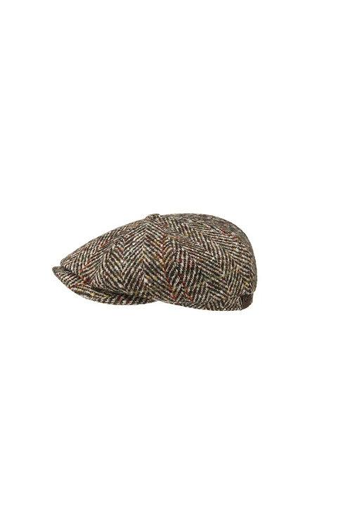 STETSON BEIGE (347) HATTERAS HERRINGBONE BAKERBOY FLAT CAP (6840502)