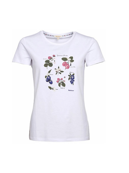 BARBOUR LADIES WHITE EVERLY T-SHIRT