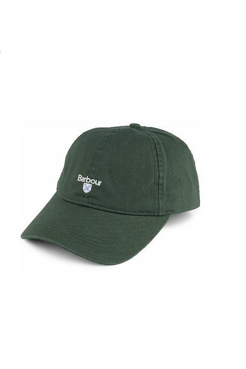 BARBOUR GREEN CASCADE COTTON BASEBALL CAP