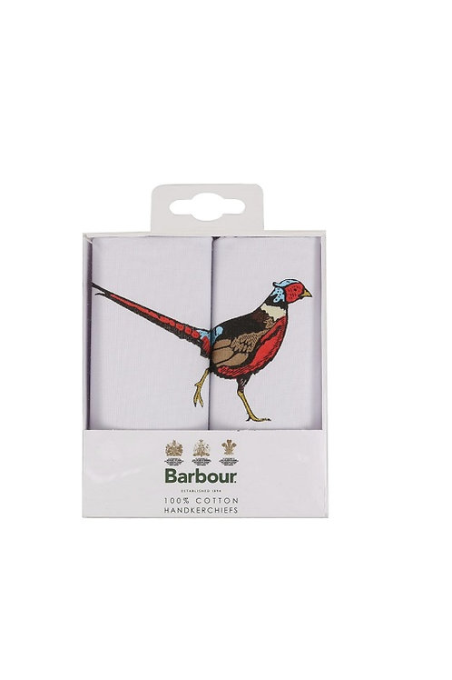 BARBOUR MENS PHEASANT HANKERCHIEF GIFT BOX SET