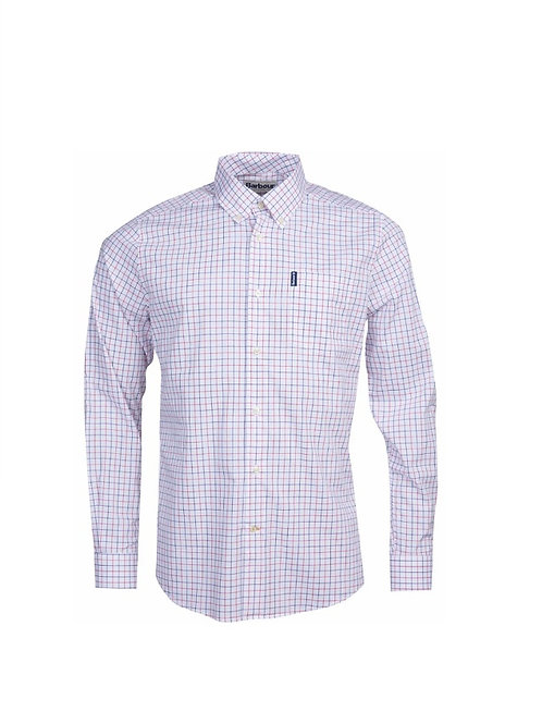 BARBOUR RED 16 TATTERSALL TAILORED FIT SHIRT
