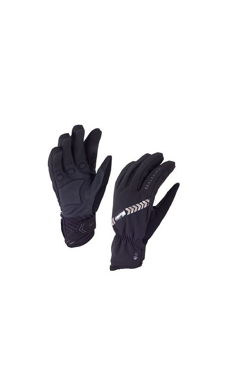 SEALSKINZ BLACK HALO ALL WEATHER WATERPROOF CYCLE GLOVES