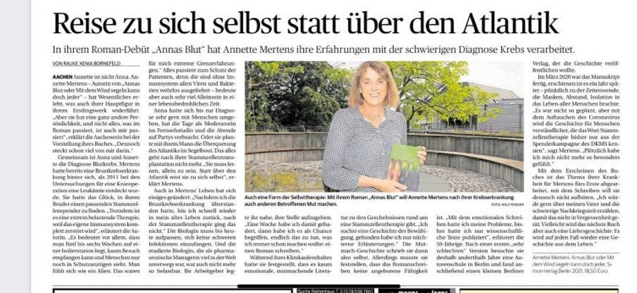 Aachener Nachrichten 19. August 21
