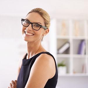 Sourire, Regarder, professionnel Femme