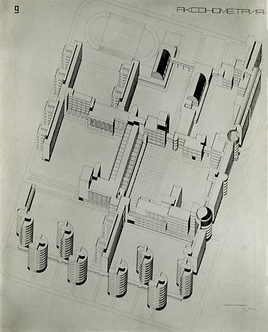Аксонометрия Коммуны, 1928 год