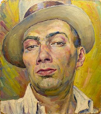 Автопортрет дизайнера Бориса Титова, 1930-е