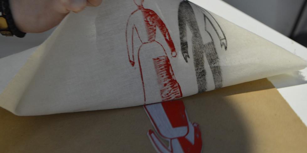 Мастер-класс по художественной набивке ткани с Ксенией Гусевой