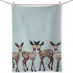 Tea Towel - Dancing Deer