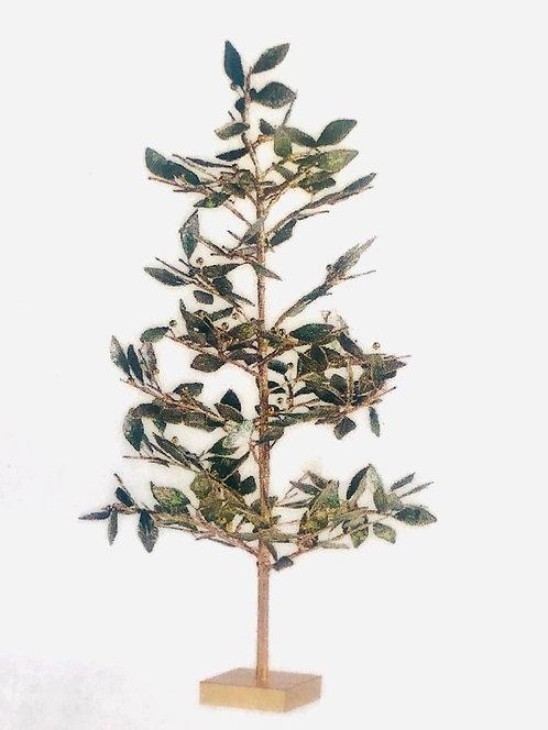 Metal Leaf Tree with Patina Finish