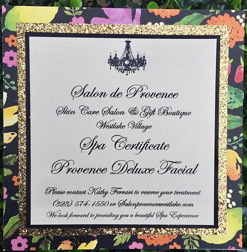 Gift Certificate 💛 Deluxe Facial