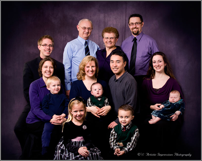 Generational Studio Family Portrait