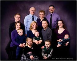 Generational Studio Family Portrait